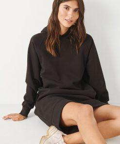 Part Two Luana Hoodie Dress Black
