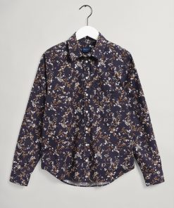 Gant Woman Rose Shirt Evening Blue