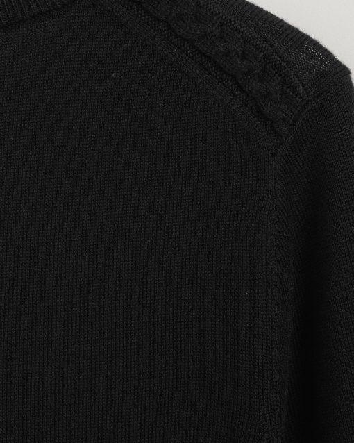 Gant Woman Merino Wool Dress Black