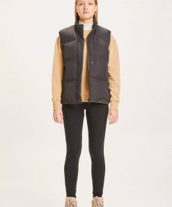 Knowledge Cotton Apparel Alyssa Puffer Vest Black