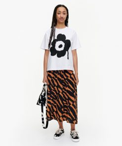 Marimekko Vaikutus Unikko T-shirt Black/White