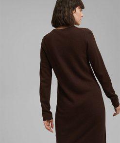 Esprit Knitted Dress Brown
