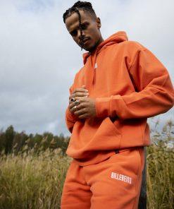 Billebeino Cozy Brick Hoodie Dark Orange