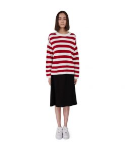 Makia Too-Ticky Knit Red/White