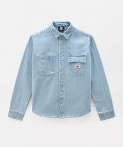Dickies Kibler Long Sleeve Shirt Vintage Aged Blue