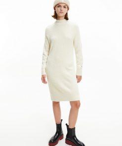 Calvin Klein Fluffy Sweater Dress Muslin