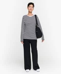 Marimekko Pitkähiha Tasaraita T-Shirt Black