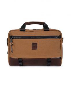 Topo Designs Commuter Briefcase Heritage Canvas Dark Khaki
